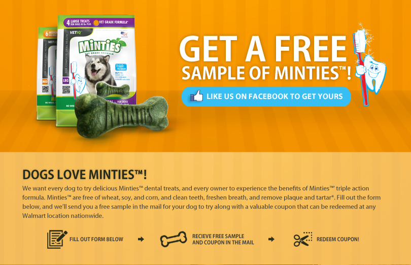Minties Dog Treats Coupon