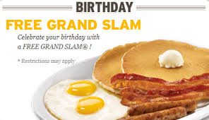 FREE Birthday Stuff: FREE Grand Slam at Denny's Restaurant!