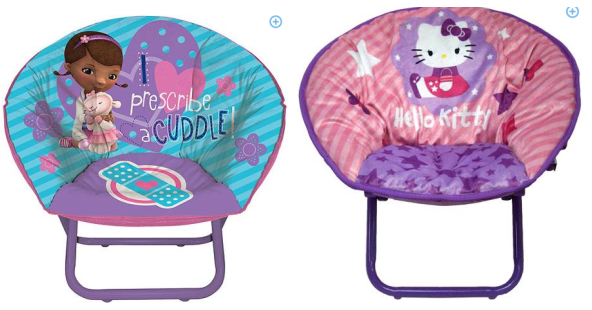 walmartcom has the disney doc mcstuffins toddler saucer chair marked down to right now regularly 29 - Walmart Fold Up Chairs