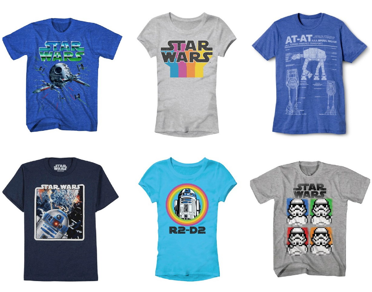 target: buy one get one 50% off star wars tees - cha-ching on a