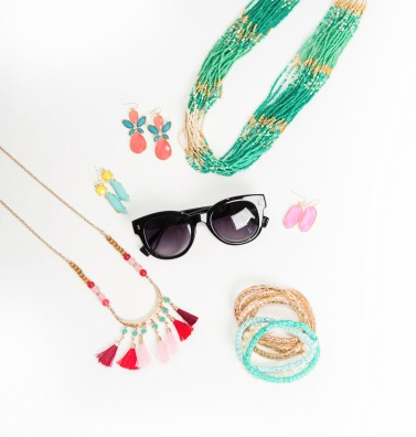 Sunglasses and bracelets fashion