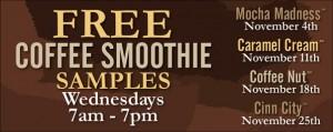 free coffee smoothie samples