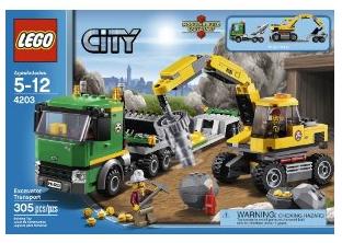 Lego City Excavator Transport