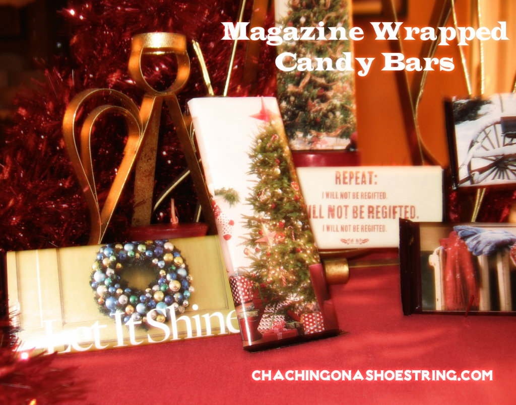 Magazine Wrapped Candy Bars