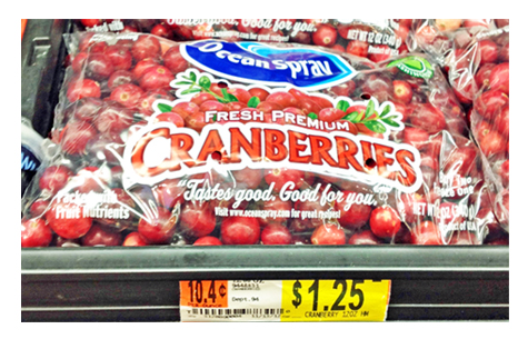 cranberries at walmart