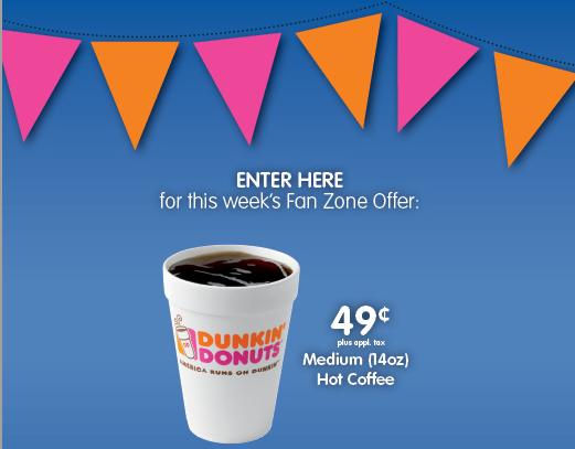dunkin donuts fan zone