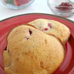 Breakfast Heart-Shaped Strawberry Muffins
