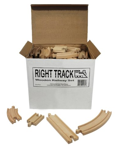 Right Track Wooden Railway Set