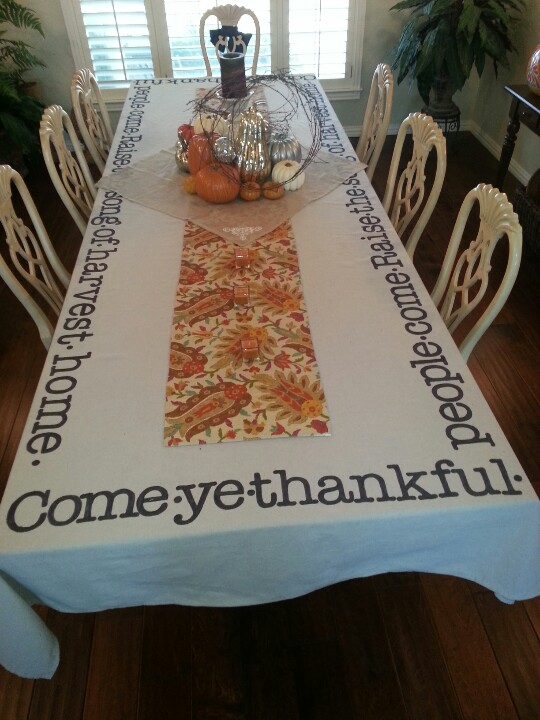 Come Ye Thankful Tablecoth
