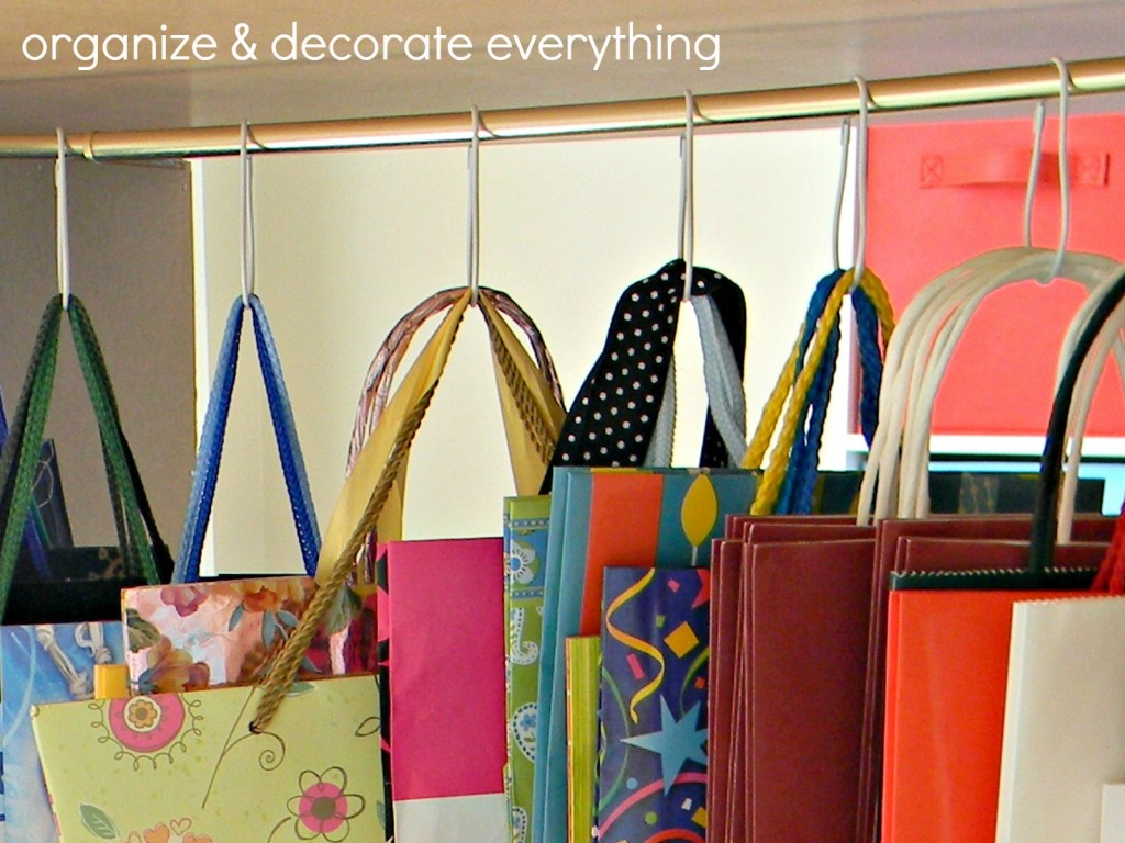 organized gift bags
