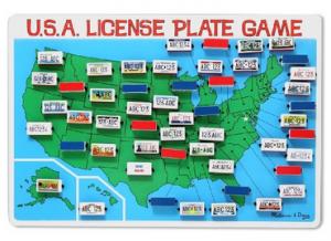 USA License Plate Game