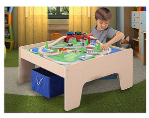Wooden Activity Table Train Set