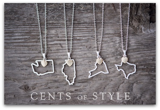 Cents of Style State Pendant Necklaces