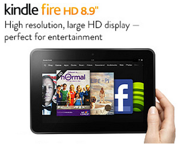 Kindle Fire HD 8.9 Best Christmas Deal 2013