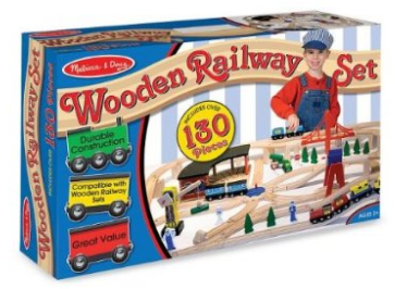 Melissa and Doug Wooden Railway Set
