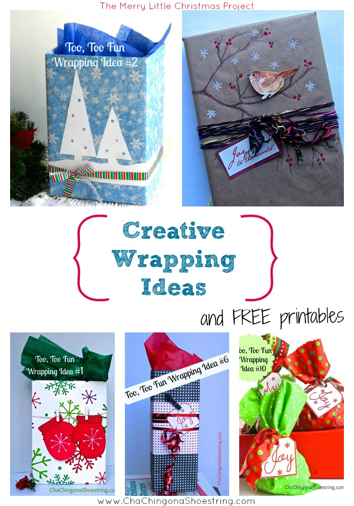 Merry Little Christmas Project Gift Wrap Ideas