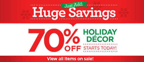 Michaels Holiday Decor Sale In Store Through December 14th Up To 70 Off Cha Ching On A Shoestring