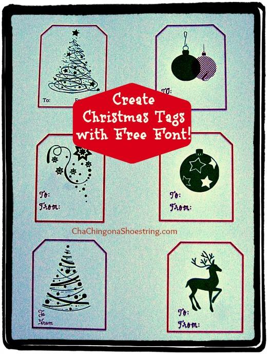 Pic Christmas Font Tags