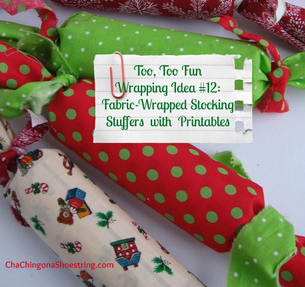 Fabric Wrapped Stocking Stuffers