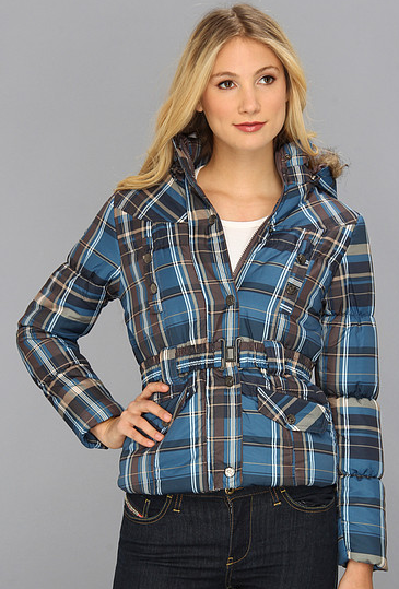 Plaid Puffer Jacket
