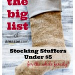 It's Back! The BIG List of Stocking Stuffers Under $5 from Amazon (Updated)