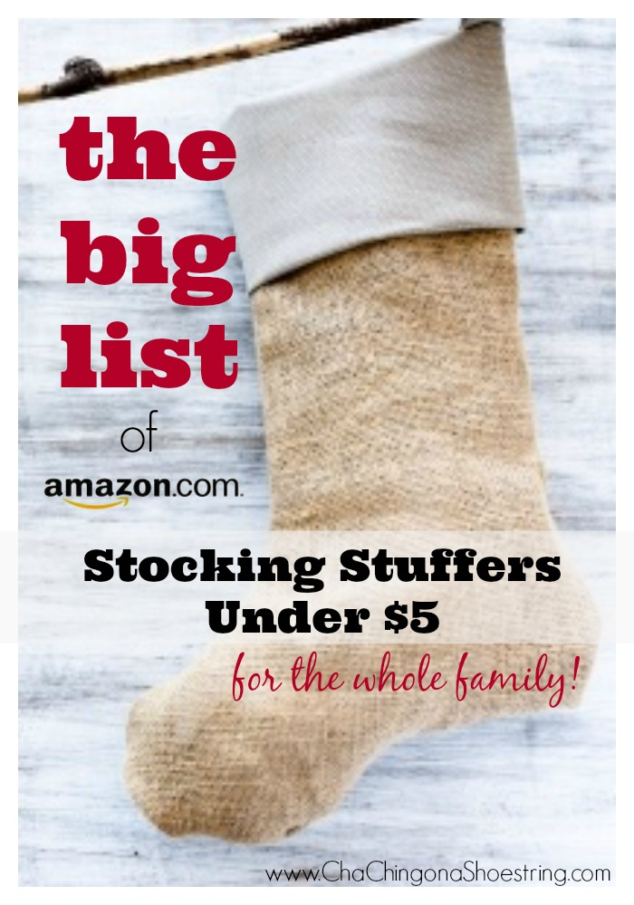 The BIG list of Stocking Stuffers Under $5 for the whole family on Amazon.com!