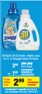 CVS All Laundry Detergent Deal
