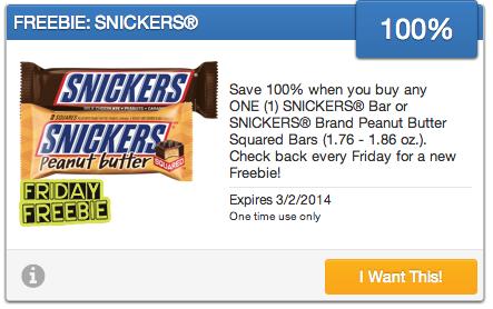 snickers savingstar