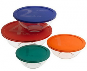 pyrex bowls with lids