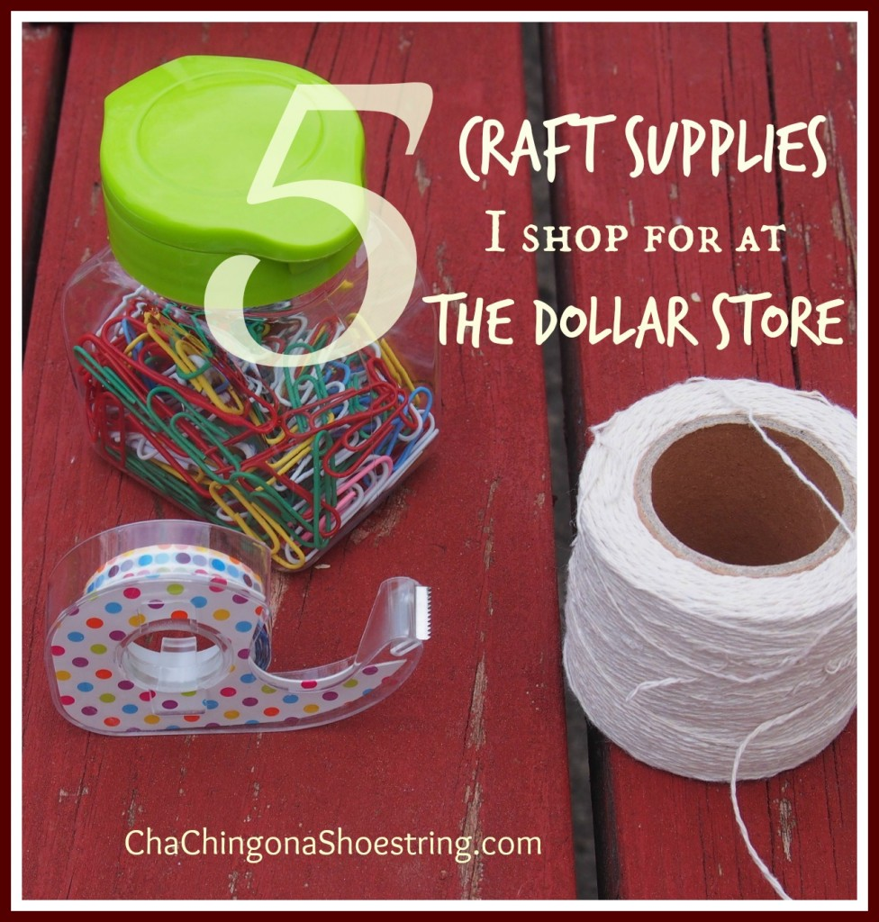 Best Craft Supplies to Buy at the Dollar Store