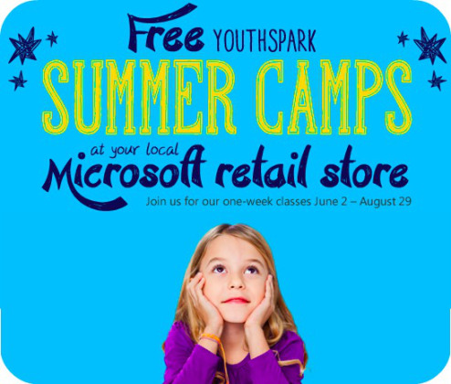 Microsoft Stores FREE Summer Camp for Kids