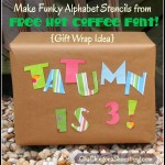 The Dollar Store Diva: Gift Wrapping with Free Funky Font