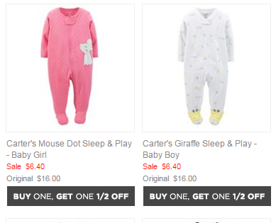 4679a87a1575 Kohl s Cyber Monday Pajama Deals - Carter s PJ s for  3.84