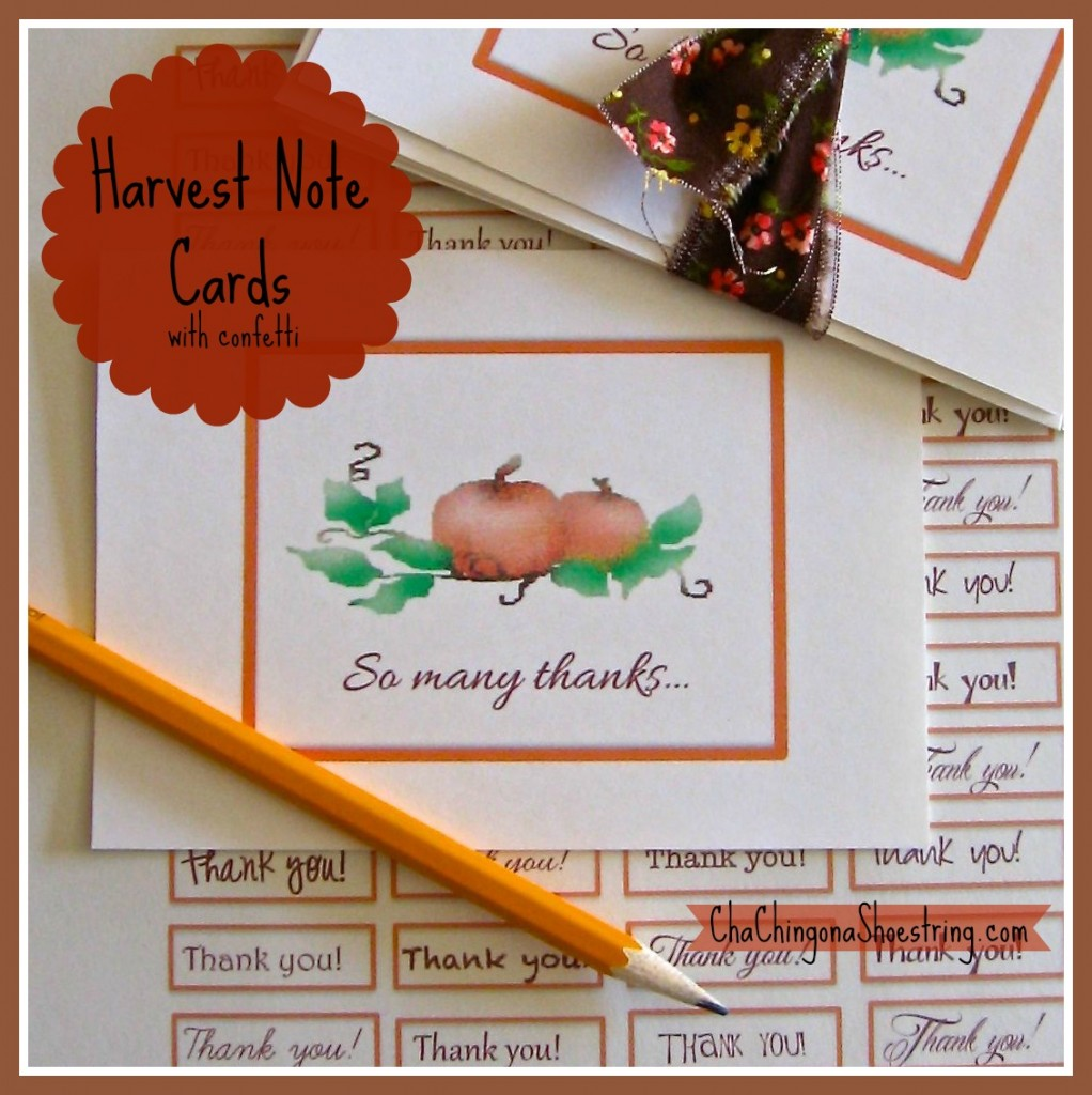 Harvest Notecards
