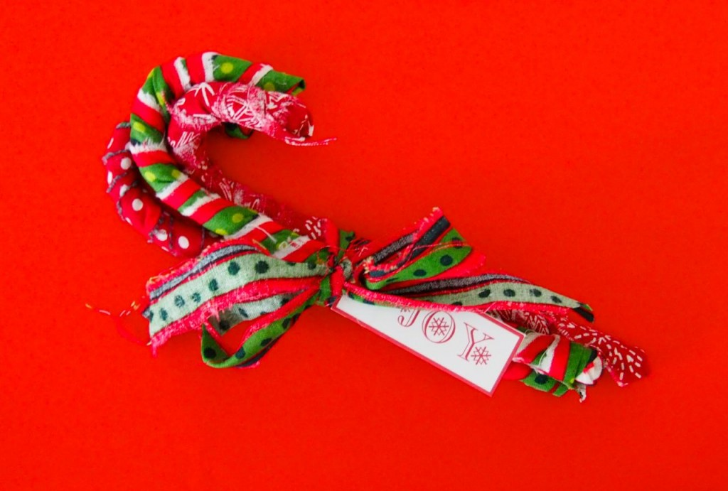 Fabric Candy Canes