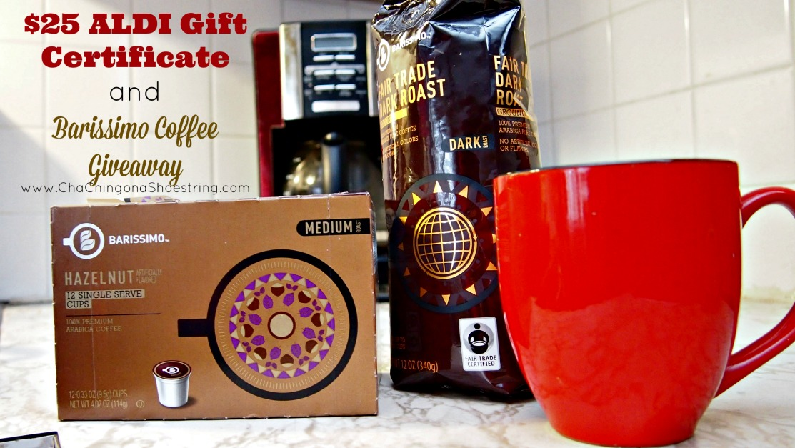 aldi barissimo coffee and 25 gift certificate giveaway giveaway 25 aldi gift certificate and 3 month s supply
