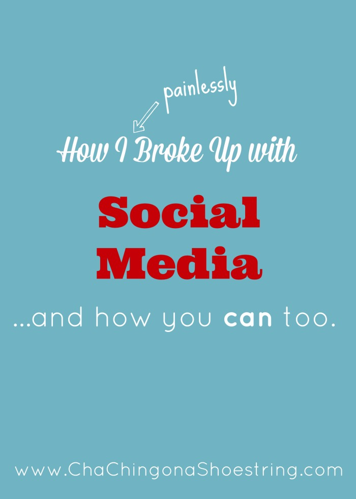 Breaking Up with Social Media