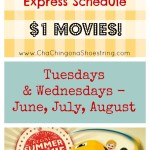 Regal Summer Movies Express Schedule 2015 ($1 Movies!)
