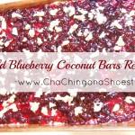 Wild Blueberry Coconut Bars Recipe