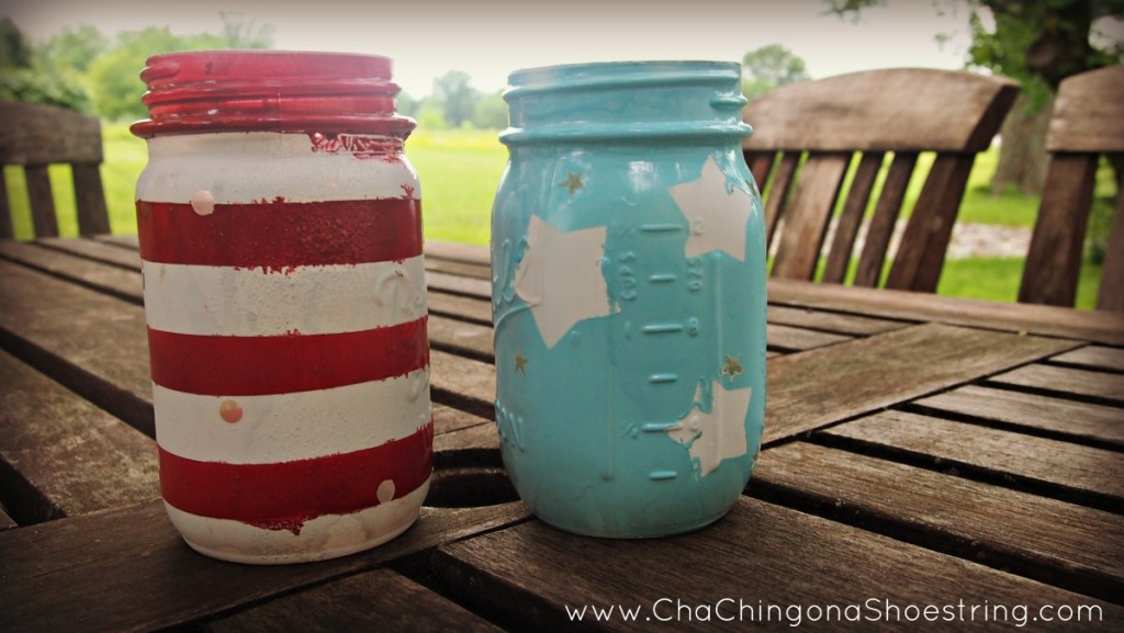 Easy DIY Patriotic Mason Jar Luminaries