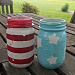 Easy DIY Patriotic Mason Jar Luminaries
