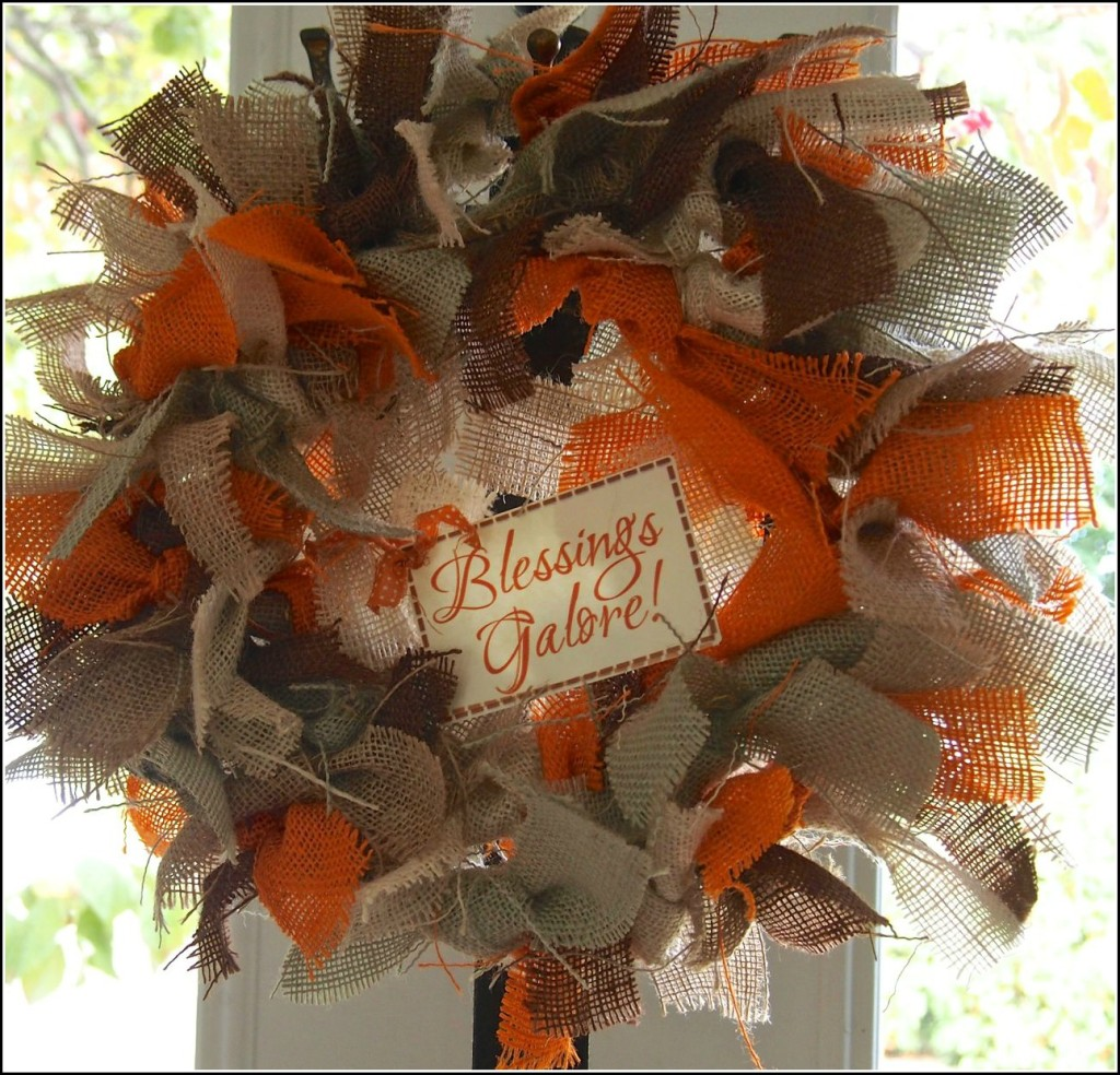 DIY Autumn Burlap Wreath