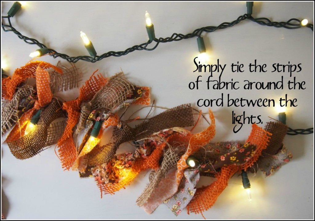 DIY Autumn Burlap Lights