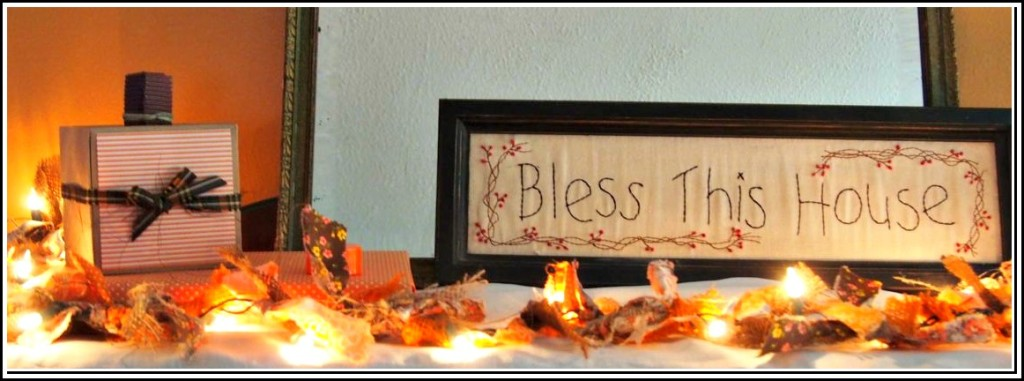 DIY Burlap Autumn Lights