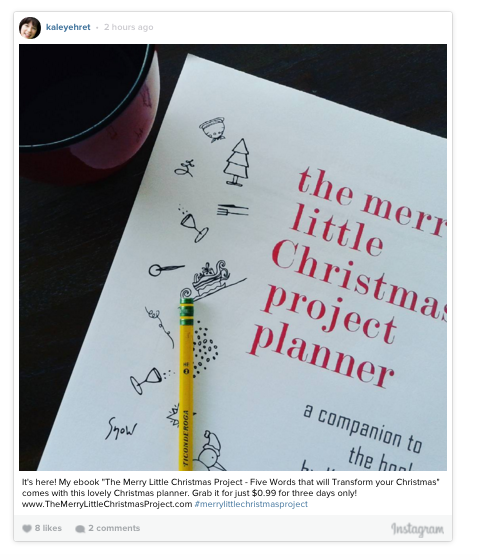 Merry Little Christmas Planner