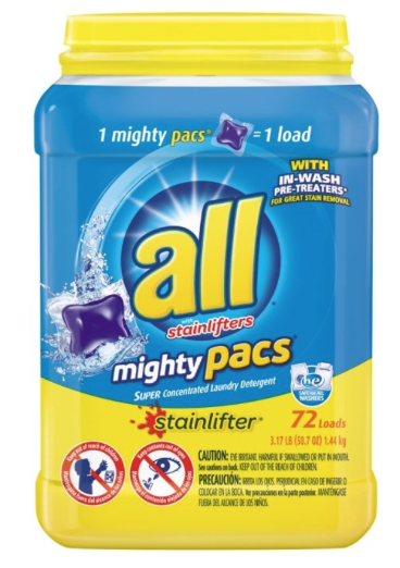All Mighty Pacs 72-Count Stain...