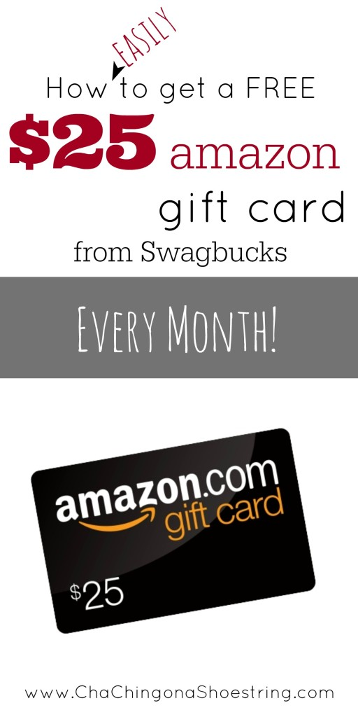 How to get a $25 Amazon Gift Card with Swagbucks every month.