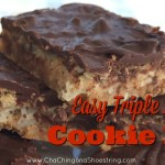 Incredibly Easy and Delicious Triple Layer Peanut Butter and Chocolate Cookie Bars