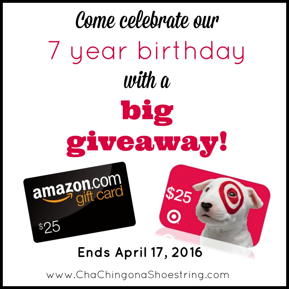 7 year giveaway