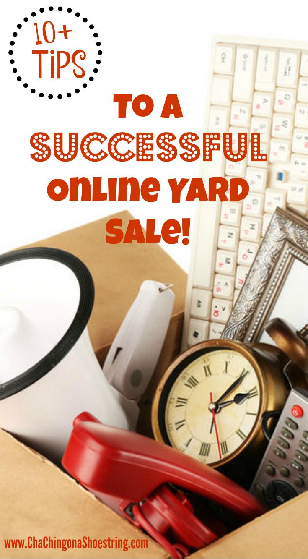 online yard sale - Pin